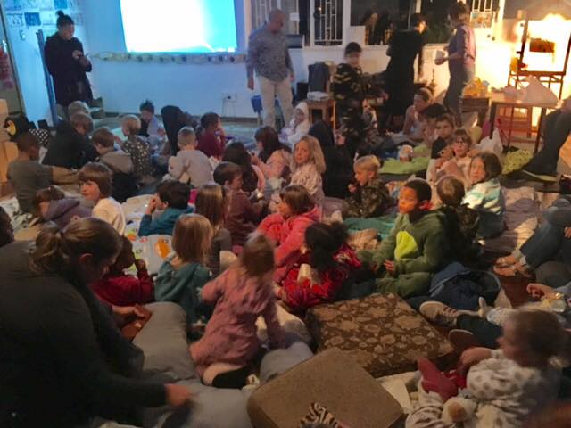 Movie night at Kairos. Our kids and parents had a fabulous time. #kairos #school #movie