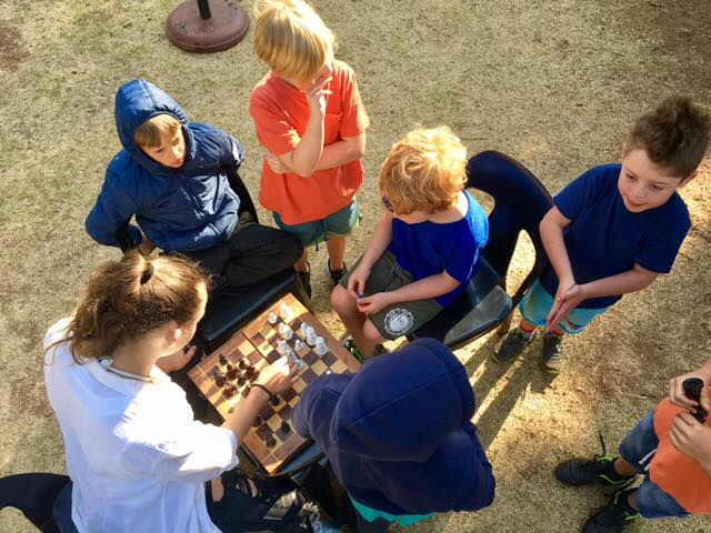 Early morning chess match