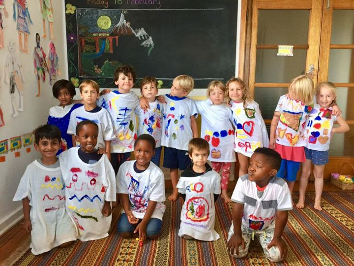 Grade 0's in their hand painted art shirts and Sivaratri​ / St Valentine's Day celebrations. #kairos #grade0 #celebrations